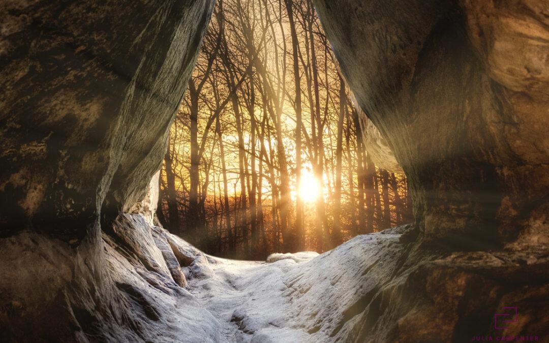 sunrise on path